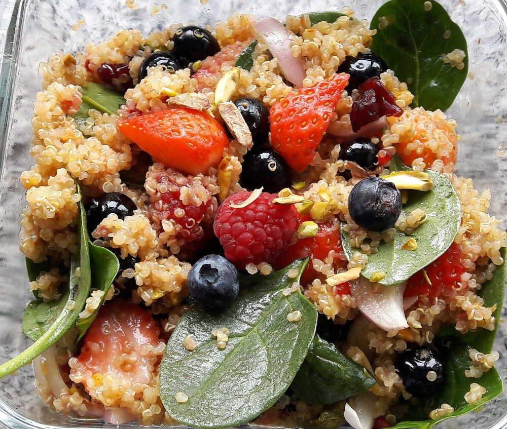 quinoa and mixed berry